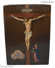 ex voto peint sur toile daté 1861 - flandre - art populaire - religion