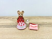 Sylvanian Families Katy Norwood Sister Mouse Birthday Cake Shopping Set 2003