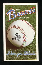 Atlanta Braves--1979 Pocket Schedule--Colonial Bread