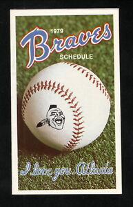 Atlanta Braves--1979 Pocket Schedule--Colonial Bread
