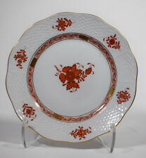 Herend Handpainted Rust chinese Bouquet Dessert Plate