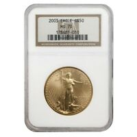 2003 1 oz $50 Gold American Eagle NGC MS 70