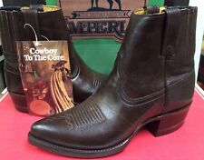 Imperial Men's Western short Leather Boot Brown M671 Size  6.5 D