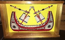 Vintage Lanyu Canoe Boat Painted Ceramic Replica Yami Tribe Handcrafted Rare MIP