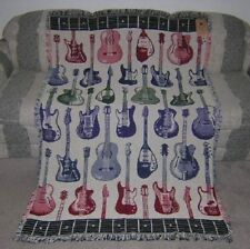 New Afghan Tapestry Throw Blanket Acoustic Electric Guitar Teacher Player Gift
