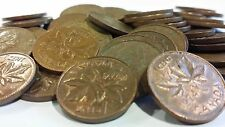 FULL ROLL 1974 CANADA ONE CENT PENNIES CIRCULATED