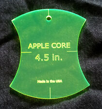 """4 1/2"""" Apple Core Quilt Template New charm pack layer cake free shipping"""