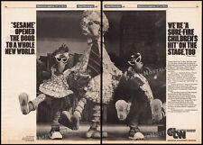 SESAME STREET LIVE!__Original 1981 Trade AD / stage tour promo_poster__BIG BIRD