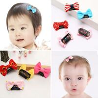 Kids Infant Flower Headwear Newborn Baby Mini Bow Hair Clips Hair Accessories