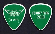 Aerosmith Joe Perry Signature Fenway Park Green Guitar Pick - 2010 Tour