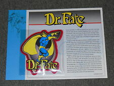 D.C COMICS DR. FATE    CLOTH PATCH ON INFORMATION CARD WILLABEE-WARD