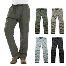 Mens Climbing Trousers Quick Dry Breathable  Detachable Pants Shorts Camping