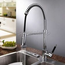 Modern Chrome Pull Out Sprayer Kitchen Faucet Swivel Spout Sink Mixer Tap Bsf077