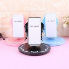 10W Fashion LED Angel Wings Wireless Fast Charger Stand Holder for Mobile Phone