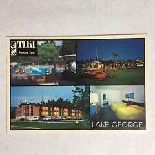 TIKI Motor Inn, Lake George, NY New York, Postcard, Resort