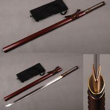 Handmade NINJA Japanese KATANA Straight Sword 1060 Carbon Steel Real Sharp Blade