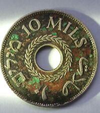 *E 1934 Palestine 10 Mils ~ KM#4 CuNi Palestyna