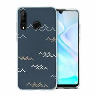 For Huawei P30 LITE Silicone Case Abstract Waves Pattern - S8121