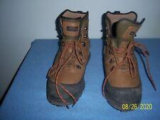 Orvis Vintage Hiking Fishing Boots Mens 10 Vibram Sole Slip Resist Metal Cleats