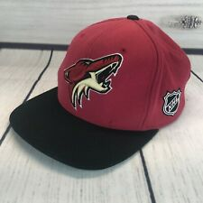 check out b46ca 030dc Mitchell   Ness Phoenix Coyotes Hat Wool Snapback Cap NHL Hockey Black Red