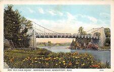 B56228 New Old Chain Bridge Merrimack River Newburyport Mass  usa