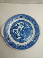 Willow Ware Blue Platter With Tab Handles By Royal China 10.5""