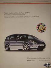 PUBLICITÉ 2007 FORD S-MAX MONOSPACES ÉLU VOITURE DE L'ANNÉE 2007 - ADVERTISING