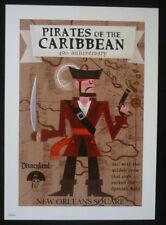 Disney Disneyland Pirates of the Caribbean Prints Art Pirate 40th Anniversary