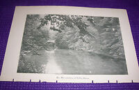 1897 Antique Print The Wissahicken at Valley Green Pennsylvania PA