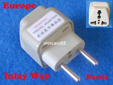 USA Australia UK to Europe Brazil Russia Universal Travel Adaptor AC Power Plug