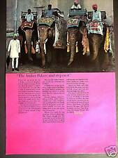 1967 travel promo AD Elephant Taxi photo Amber Palace India