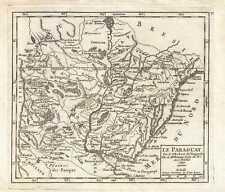 1749 Vaugondy Map of Paraguay