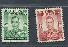 SOUTHERN RHODESIA used Scott 42,43 1/2d,1d George VI