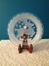"""Crystal Clear Celebrations Frosted 8"""" Reindeer Candle Plate"""