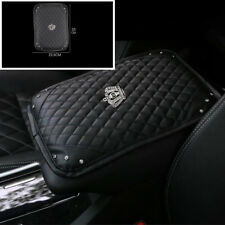 Car Accessories PU Leather Bling Rhinestone Console Armrest Cover Pad Protector