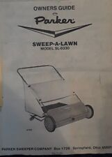 Vintage Parker Sweep-A-Lawn Manual Lawn Mower Model Sl-8330 Owners Guide