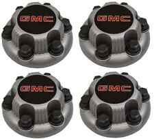 "4pcs SILVER GMC Sierra Yukon  Savana 6 Lug 1500 Center Caps 16""  17"" Wheels"