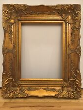 "Antique Reproduction Gold Gilt Vintage Picture Frame Opening 12""x16"""