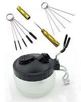 ABEST 4 SET Airbrush Spray Gun Wash Cleaning Tools Needle Nozzle Brush Glass Cle