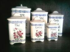 serie de 6 pots à épices
