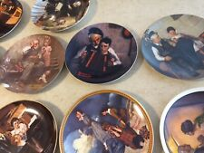 Norman rockwell collector porcelain plates lot of 10