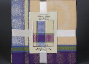 """4 PROVENCE STOF CEZANE LAVENDER Jacquard 100% Cotton Napkins 20""""x20"""" FRANCE"""