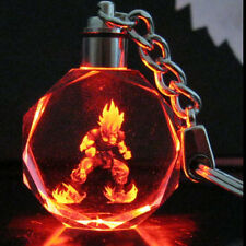 Crystal Dragon Ball Dragonball Z Son Saiyajin Goku Key Chain LED light Pendant