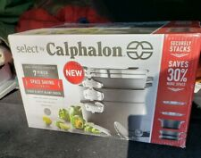 CALPHALON SELECT HARD ANODIZED 7 PIECE COOKWARE SET  SPACE SAVER NEW IN BOX USA