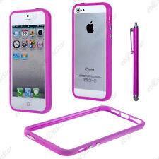 Housse Coque Etui Bumper Violet Apple iPhone SE 5S 5 + Stylet