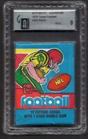 1979 Topps Wax Pack Football Graded Authentic (GAI 9 MINT) ROOKIE RC ??