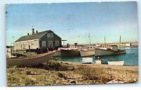*1950s Fish Pier Chatham Cape Cod Massachusetts Mass Boats Vintage Postcard C42