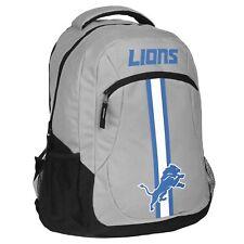 Detroit Lions Logo Action BackPack School Bag Back pack Gym Travel Sports Book