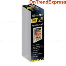 50 x Ultra Pro Card Sleeves Special Size Mini Snap Card Holder Protector NEW