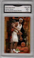 Lebron James 2003 Upper Deck #31 Graded GMA 10 Freshmen Season Basketball Rookie